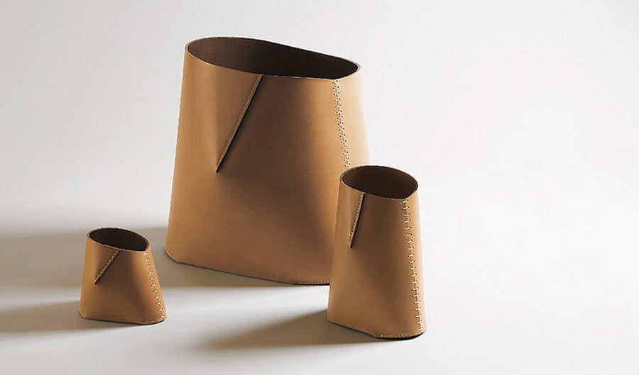 ANTONIO Leather Pencil Holder by Claude Bouchard for Oscar Maschera - DUPLEX DESIGN