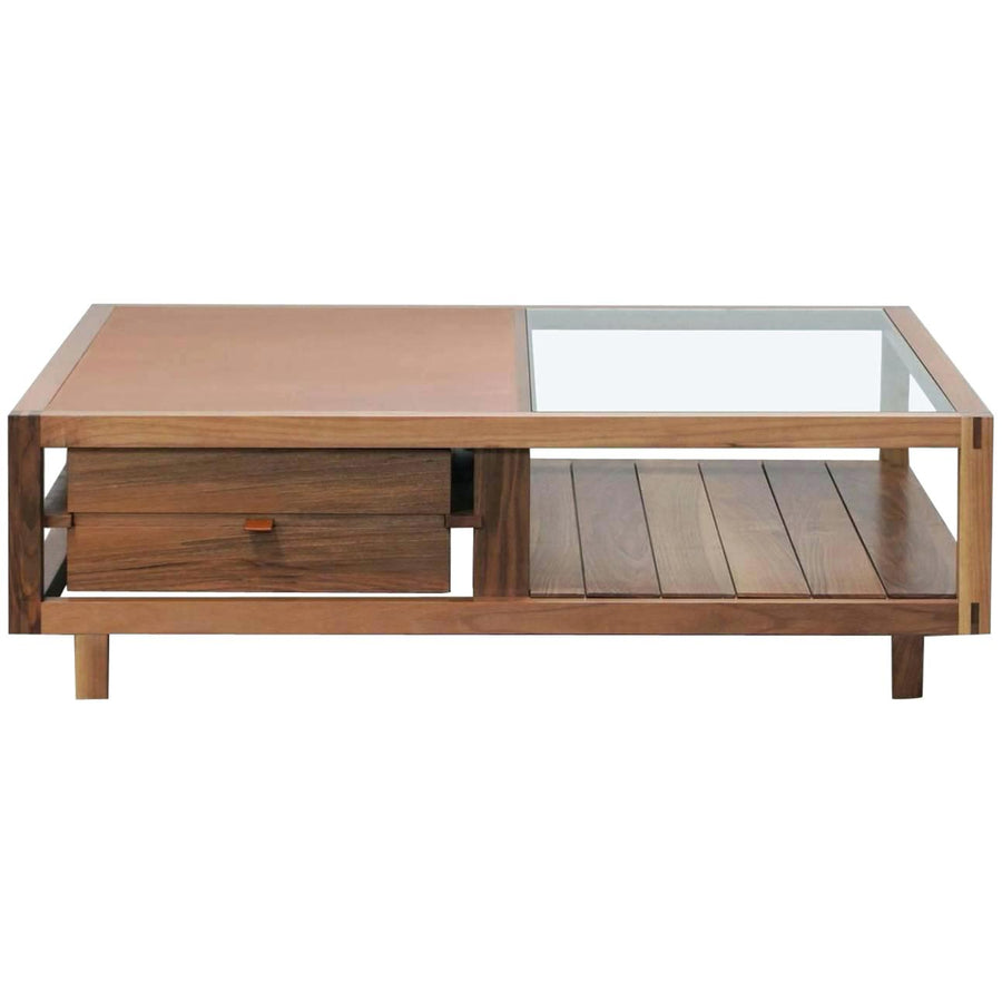 OPTIMUM Walnut Low Coffee Table by Stephane Lebrun for Dessie