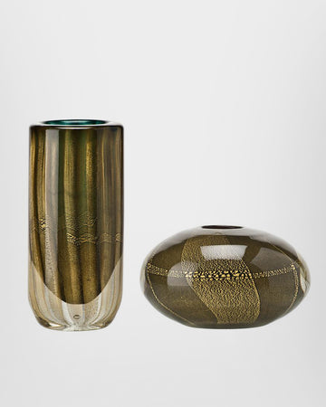 SOMMERSI FOGLIA ORO Glass Vase Collection by Carlo Scarpa for Venini