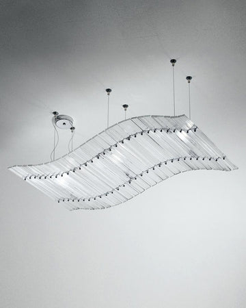 TAPPETO VOLANTE Suspension Lamp by Venini