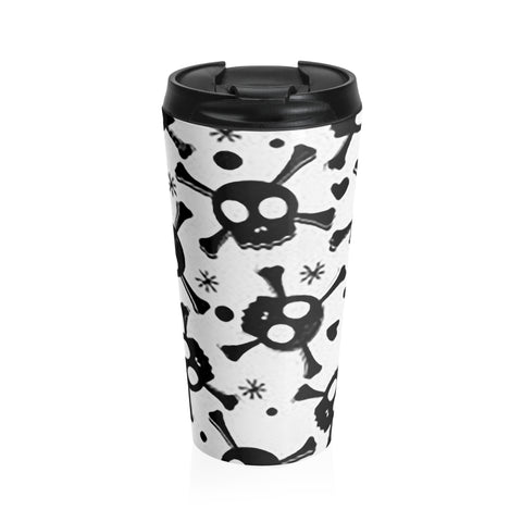 Skull n Bones Stainless Steel Travel Mug