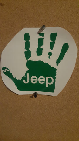 Jeep hand decal