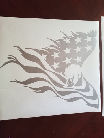 Eagle flag decal
