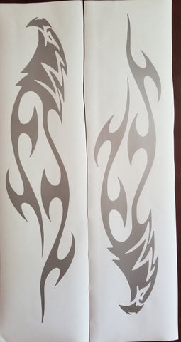 Eagle tribal decal