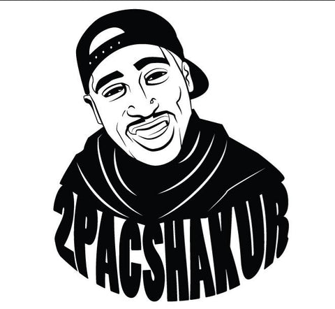 2Pac Shakur Decal