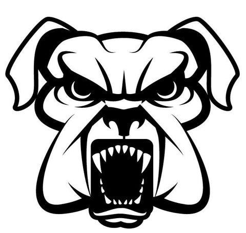 Angry Dog Decal