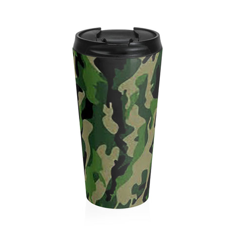 Camo Stainless Steel Travel Mug