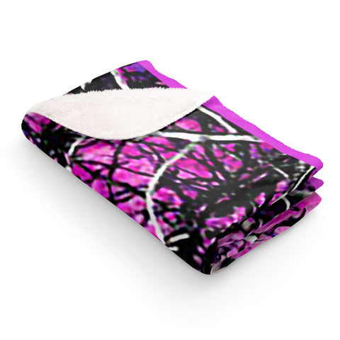 Pink Camo Sherpa Fleece Blanket