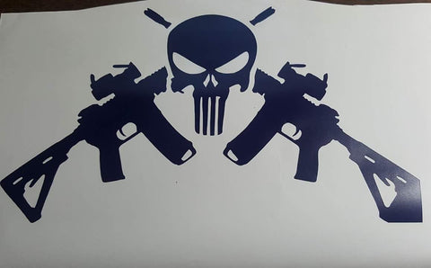 Skull with rifles