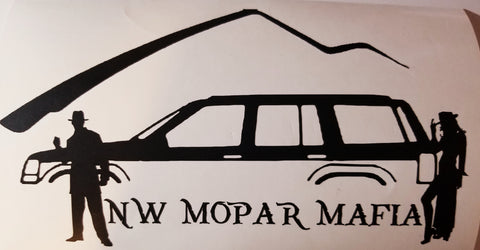 NW Mopar Mafia (ZJ) Decal