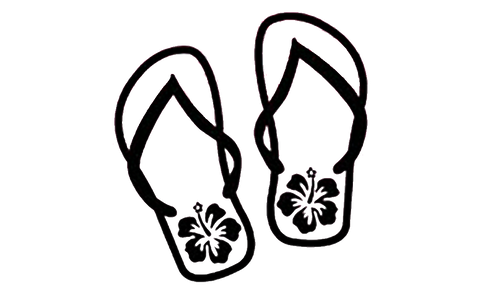Flip flop flowers decal