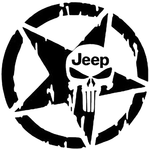 Jeep punisher star decal