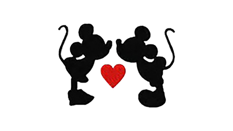 Mickey and Minnie love decal