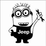 Jeep Mechanic Minion Decal