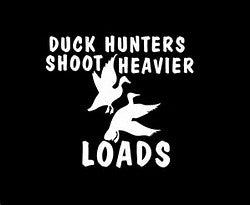 Duck hunters decal
