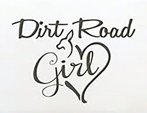 Dirt road girl decal