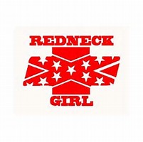 Redneck girl decal