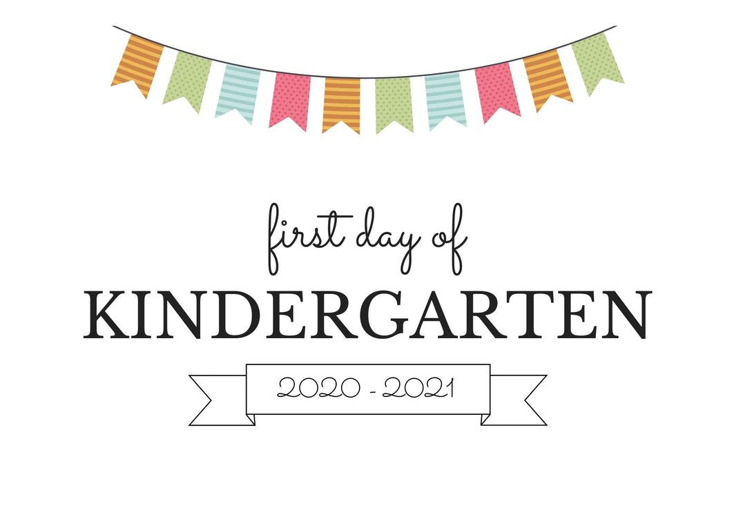 KINDERGARTEN FIRST DAY OF SCHOOL