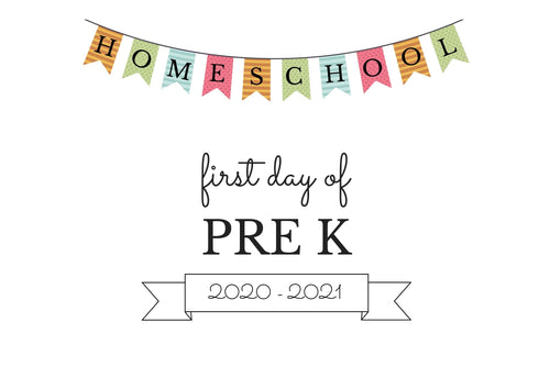 PRE K HOMESCHOOL FIRST DAY OF SCHOOL