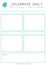 Freebie! Celebrate Daily Journal Printable
