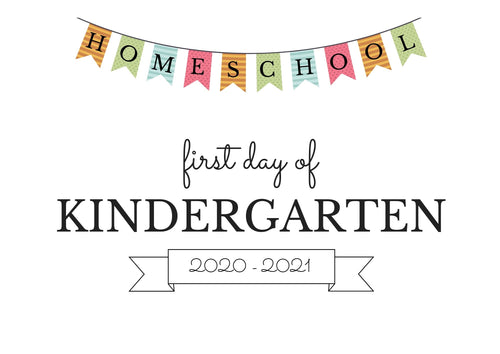 KINDERGARTEN HOMESCHOOL FIRST DAY OF SCHOOL