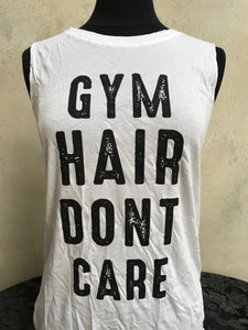 "Women's Muscle Tee- ""GYM HAIR"" - younican"