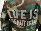 LIFE IS BEAUTIFUL CROPPED CAMO JACKET - younican