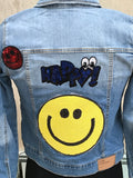 KIDS EMOJI DENIM JACKET - younican