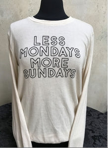 "Women's Pullover Sweatshirt- ""SUNDAYS COOL"" - younican"