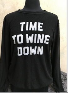 "Women's Pullover Sweatshirt- ""WINE DOWN"" - younican"
