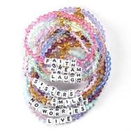 Little Words Project- Beaded white Bracelet: - younican