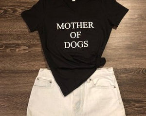 Short Sleeve-MOTHER OF DOGS - younican