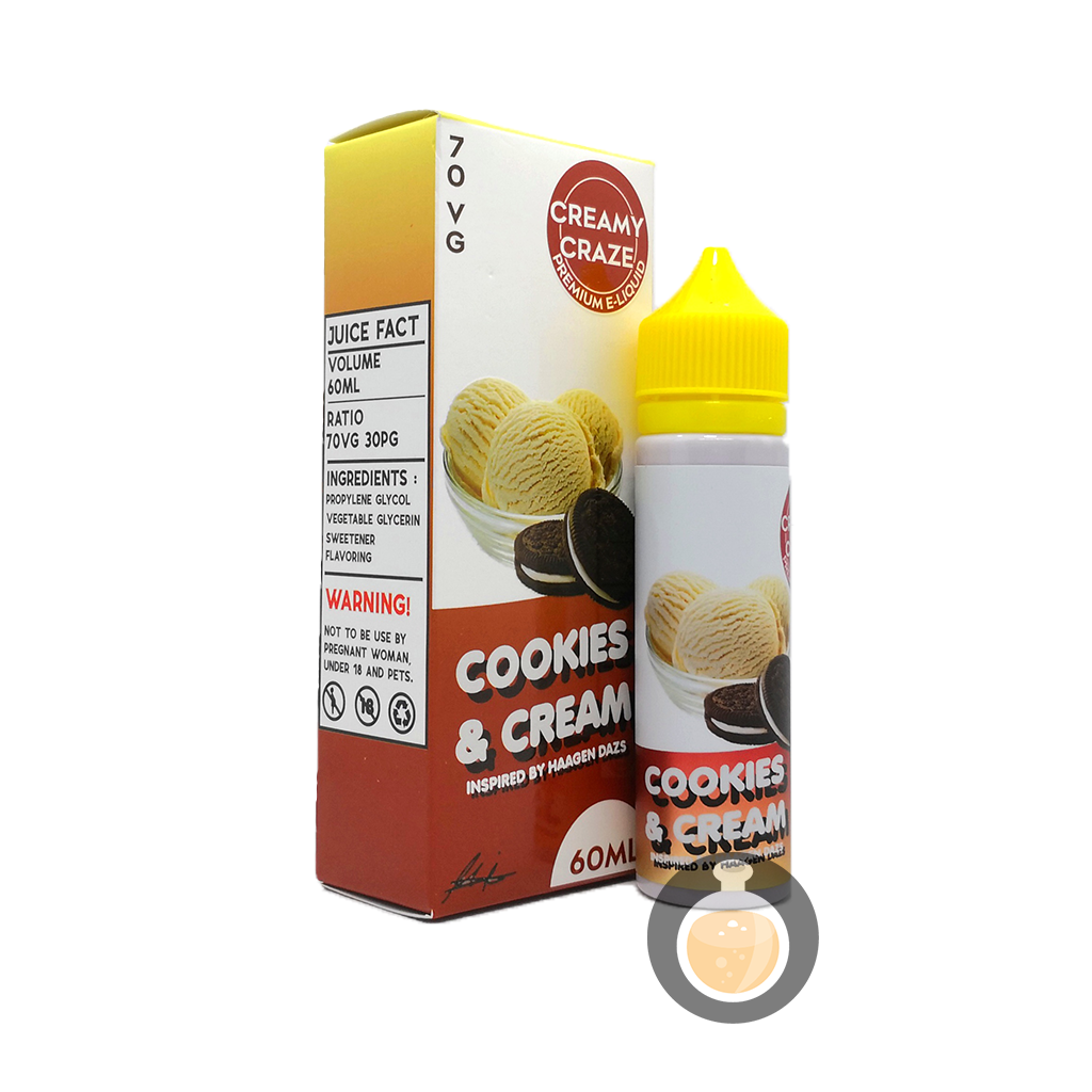 Creamy Craze - Cookies & Cream (Buy Vape E Juice , Wholesale E Liquid Website , Malaysia Vapor Distributor Store) Shop Now - Vape Orb