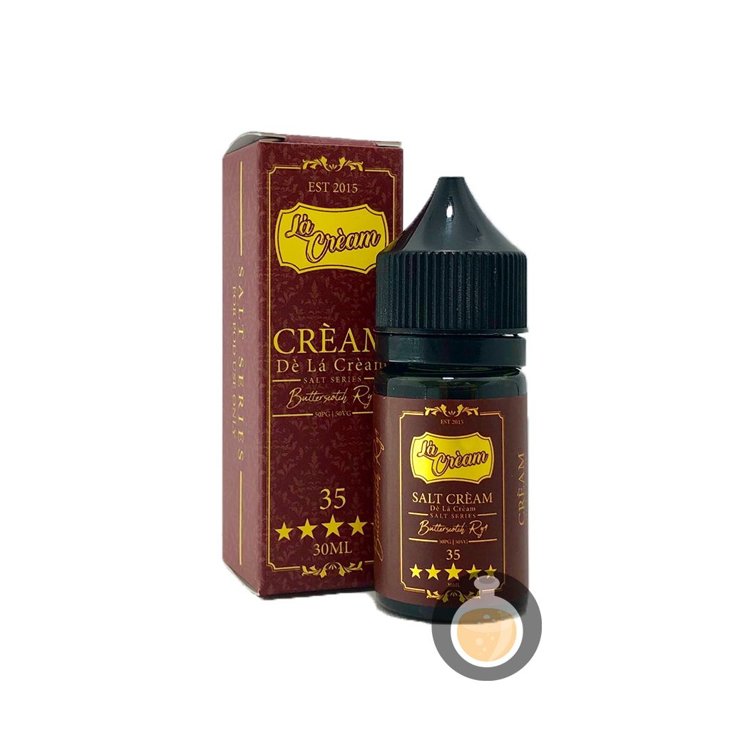 (De La Cream - Salt35 Butterscotch Ryl Vape E-Juices & E-Liquids)