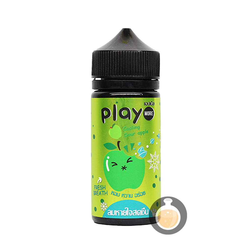 (Play More - Cooling Sour Apple Vape E-Juices & E-Liquids)