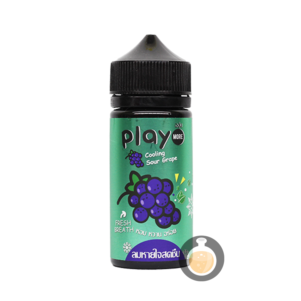 (Play More - Cooling Sour Grape Vape E-Juices & E-Liquids)