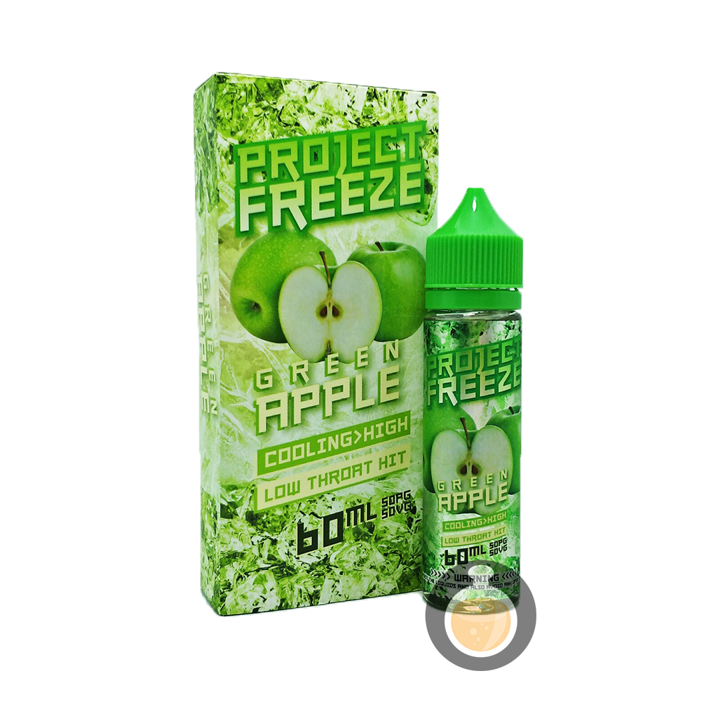 (Project Freeze - Green Apple Vape E-Juices & E-Liquids)