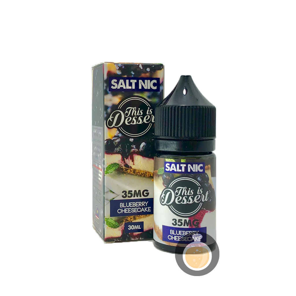 (This Is Dessert - Salt Nic Blueberry Cheesecake Vape E-Juices & E-Liquids)