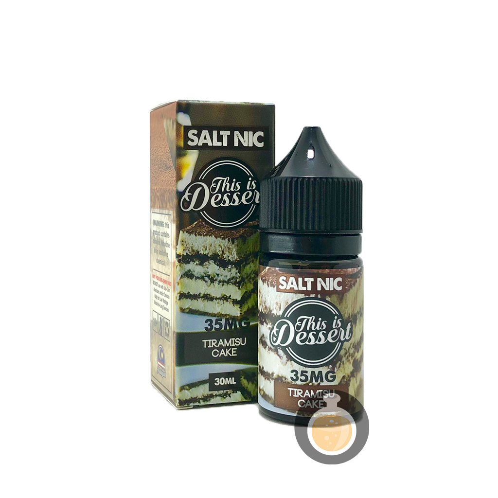 (This Is Dessert - Salt Nic Tiramisu Cake Vape E-Juices & E-Liquids)