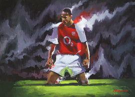 Thierry Henry ( On Canvas, Signed, Hand Embellished, and includes a Cert. of Authenticity)