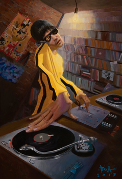 DJ Bruce Lee (Canvas)