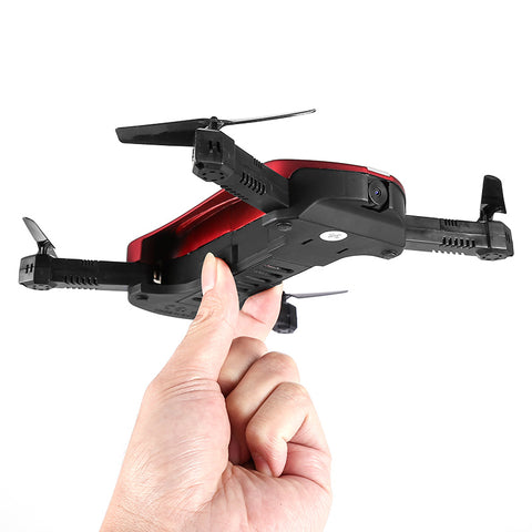 JY018 Folding Drone - WiFi Camera, App Support, FPV, G-Sensor, Headless Flying, 500mAh, 100m Control Distance (Red)