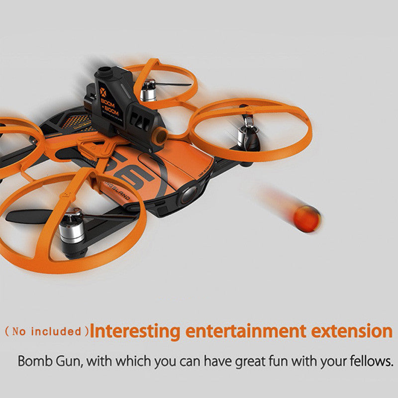 Wingsland S6 Premium Drone - 4K Camera, Foldable Design, Wi-Fi, FPV, Home Return Key, 4 Flight Modes (Orange)