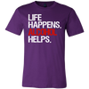 Life Happens Alcohol Helps Canvas Brand Tee Mens T-Shirt - 12 colors available - PLUS Size S-3XL MADE IN THE USA