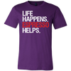 Life Happens Espresso Helps Tee Canvas Brand Mens T-Shirt - 12 colors available - PLUS Size S-3XL MADE IN THE USA