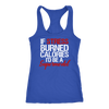 If Stress Burned Calories I'd Be A Supermodel Ladies Racerback Tank Top Women - 3 colors available - PLUS Size XS-2XL MADE IN THE USA