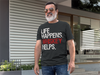 Life Happens Whiskey Helps Mens T-shirt Triblend Tee - 3 colors available PLUS Size S-2XL MADE IN THE USA