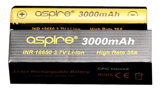 3000mah 18650 Battery (2-pak) fra Aspire