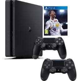 PlayStation 4 Slim 1 Tera + Fifa 18 Arabic + Two Controllers