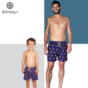 STIVALI Father & Son Matching Swim Trunks Adult Size - M